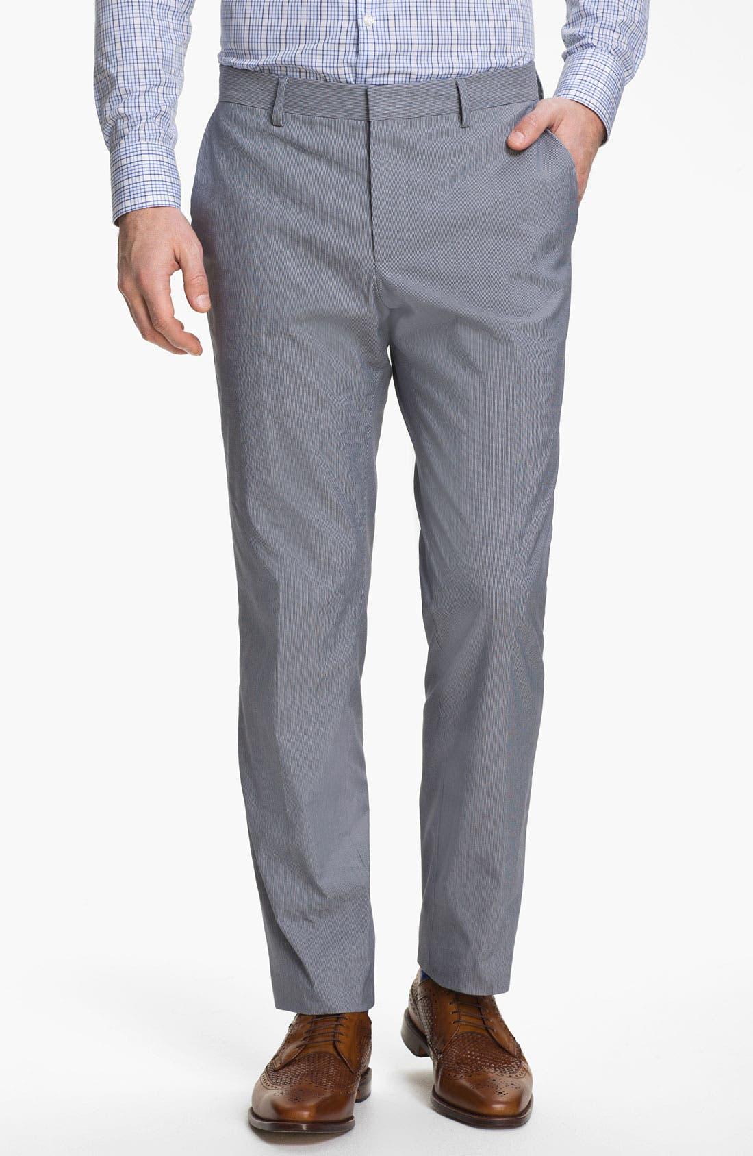 Alternate Image 4  - BOSS Black 'Huge/Genius' Trim Fit Cotton Blend Suit