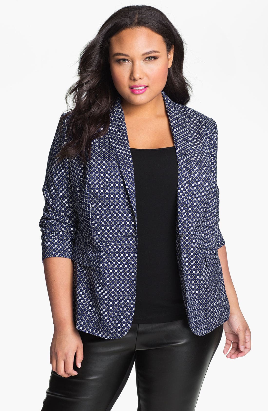 Alternate Image 1 Selected - Vince Camuto Print Blazer (Plus)