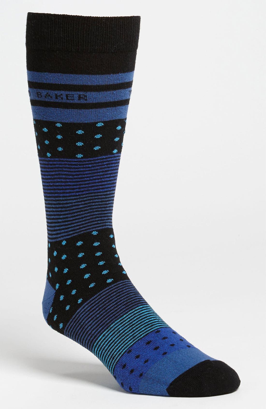 Alternate Image 1 Selected - Ted Baker London Multi Pattern Socks