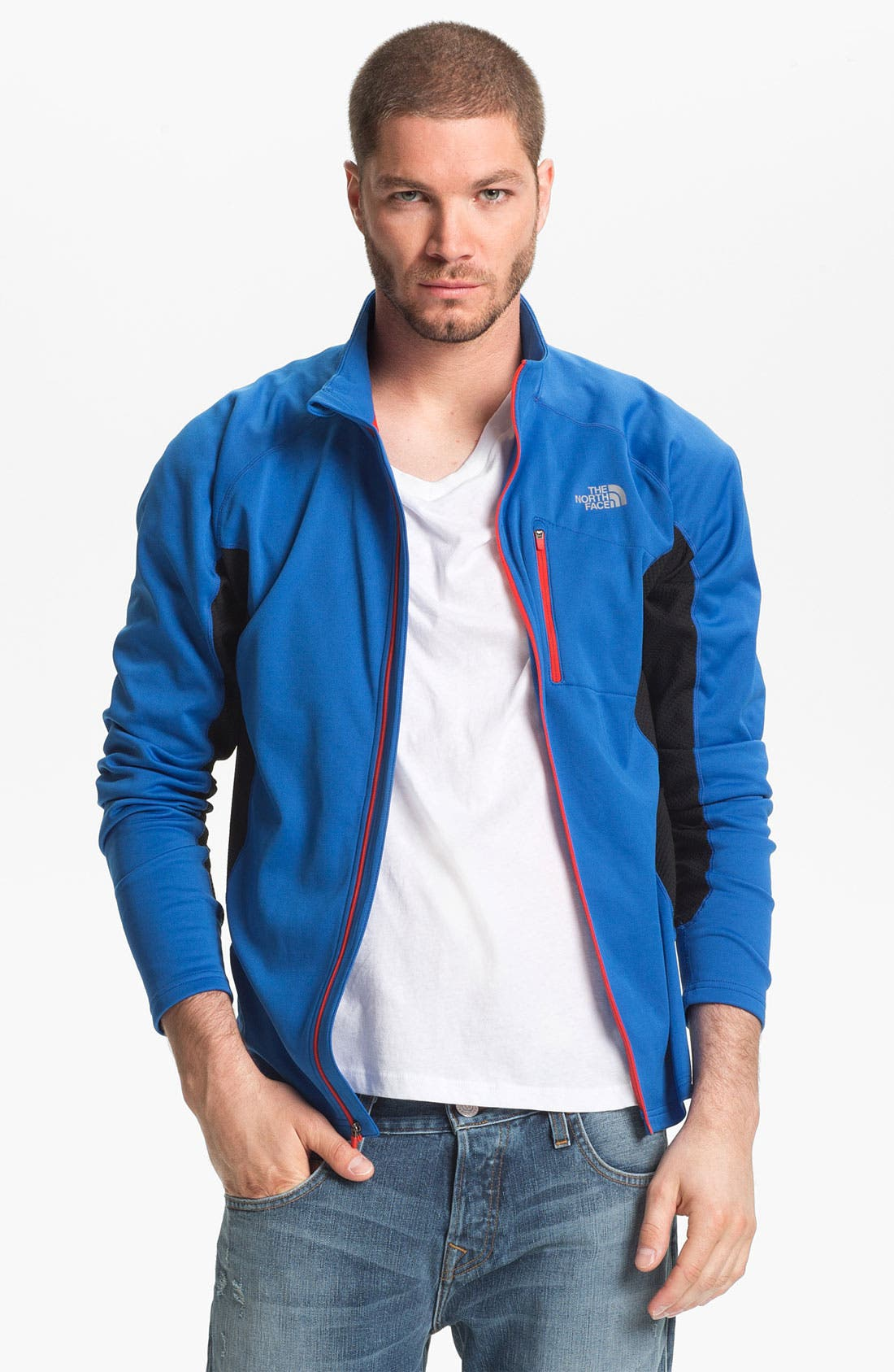 Main Image - The North Face 'Teocalli' Hybrid Fleece Jacket