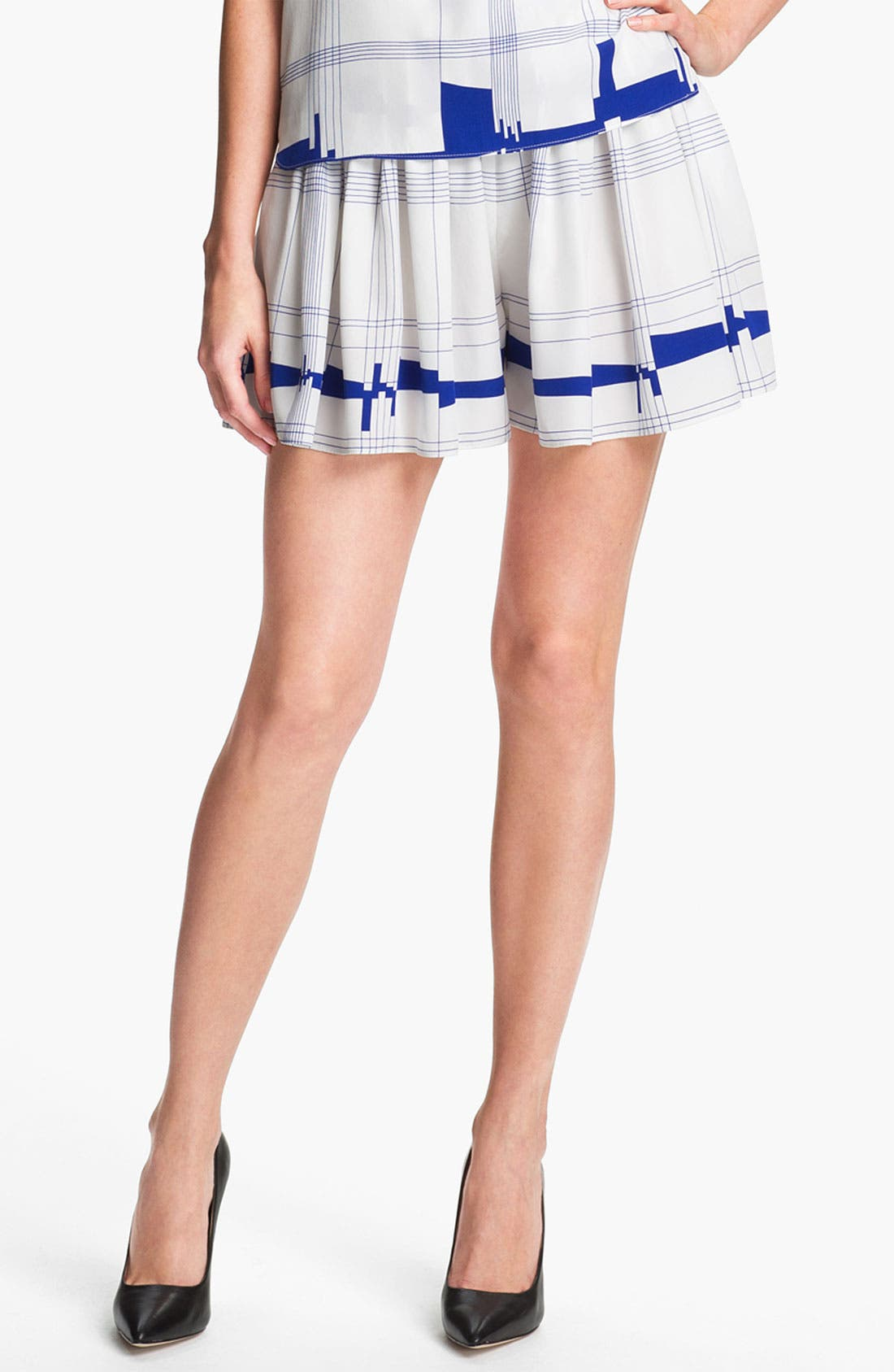 Alternate Image 1 Selected - Milly 'Cityscape' Silk Shorts