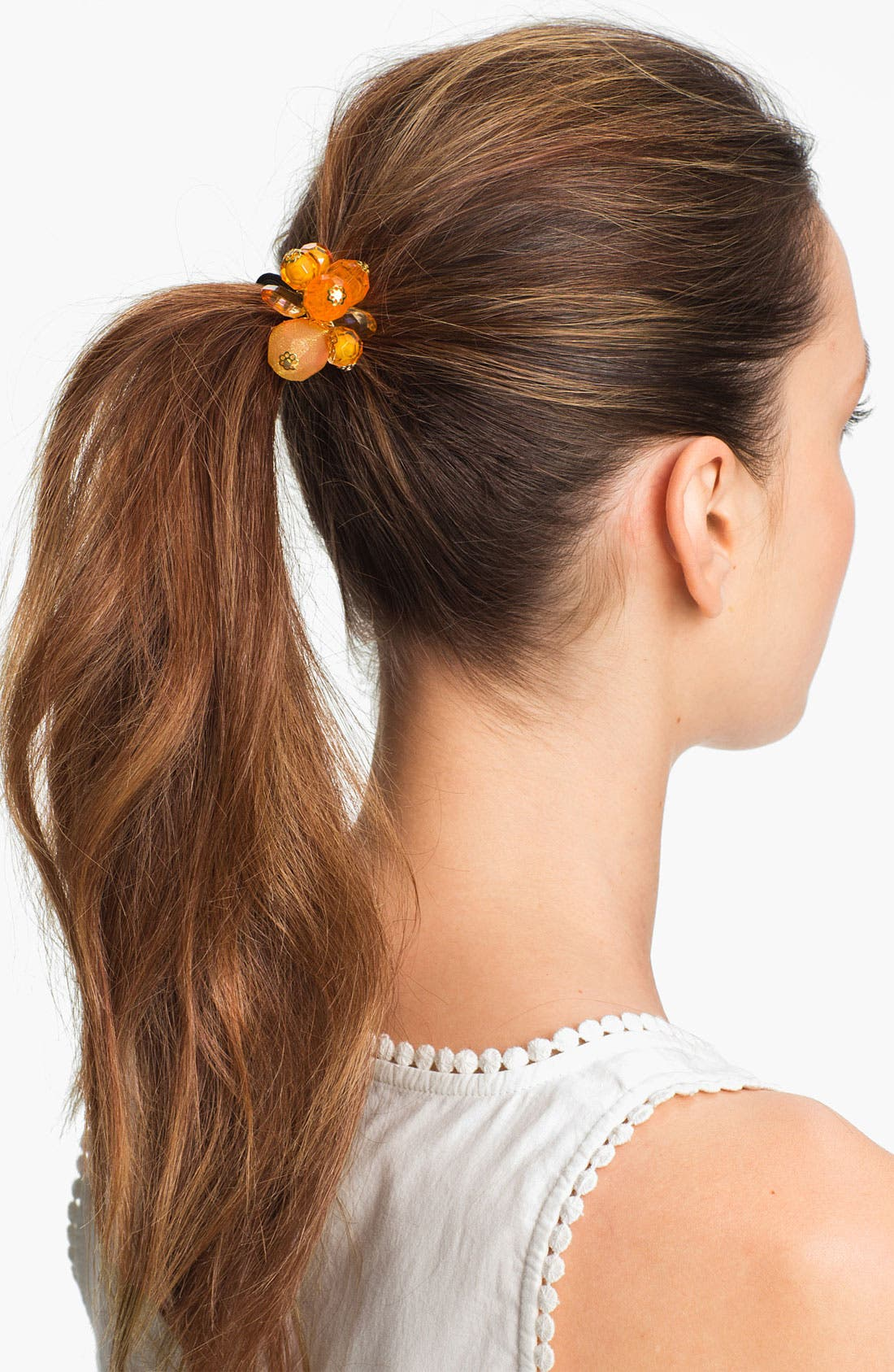 Alternate Image 1 Selected - L. Erickson 'Bali' Ponytail Holder