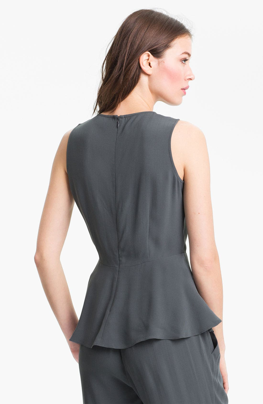 Alternate Image 2  - Eileen Fisher Silk Georgette Peplum Blouse (Online Only)