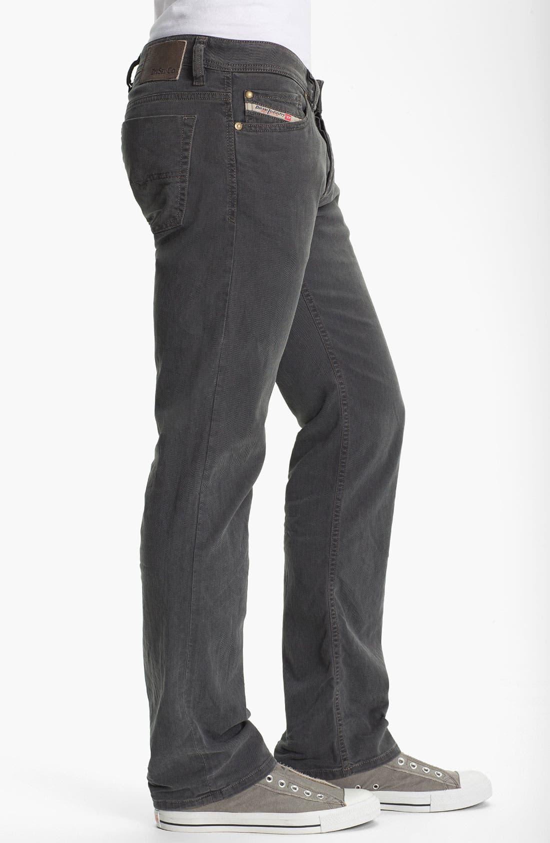 Alternate Image 3  - DIESEL® 'Viker' Straight Leg Jeans (Grey)