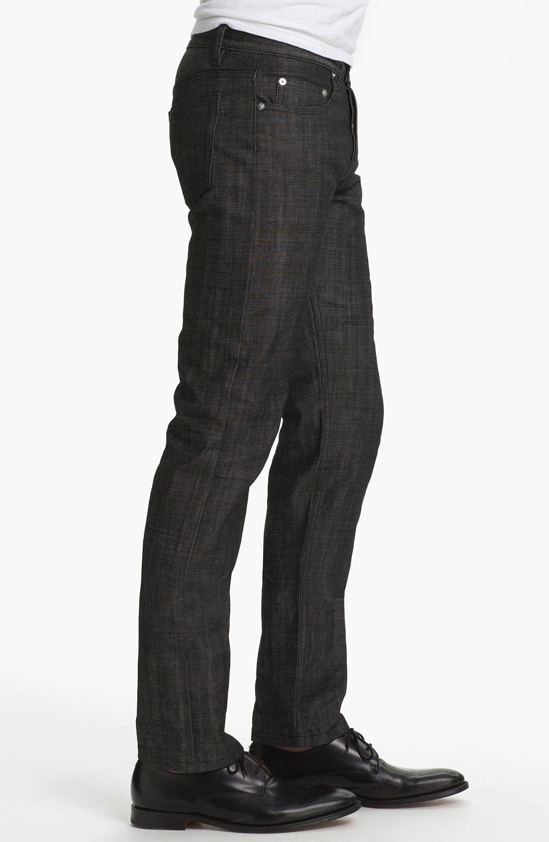 Alternate Image 3  - A.P.C. 'New Standard' Slim Straight Leg Jeans (Black) (Online Only)