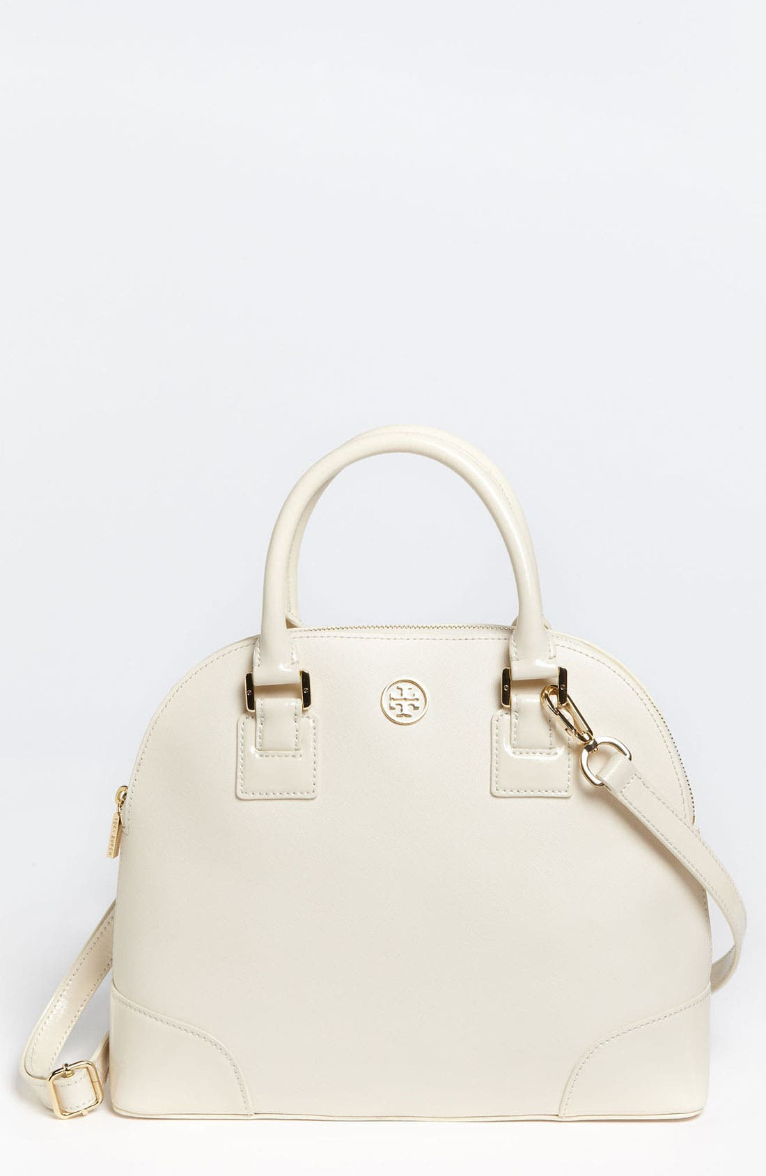 Alternate Image 1 Selected - Tory Burch 'Robinson - Small' Saffiano Leather Dome Satchel