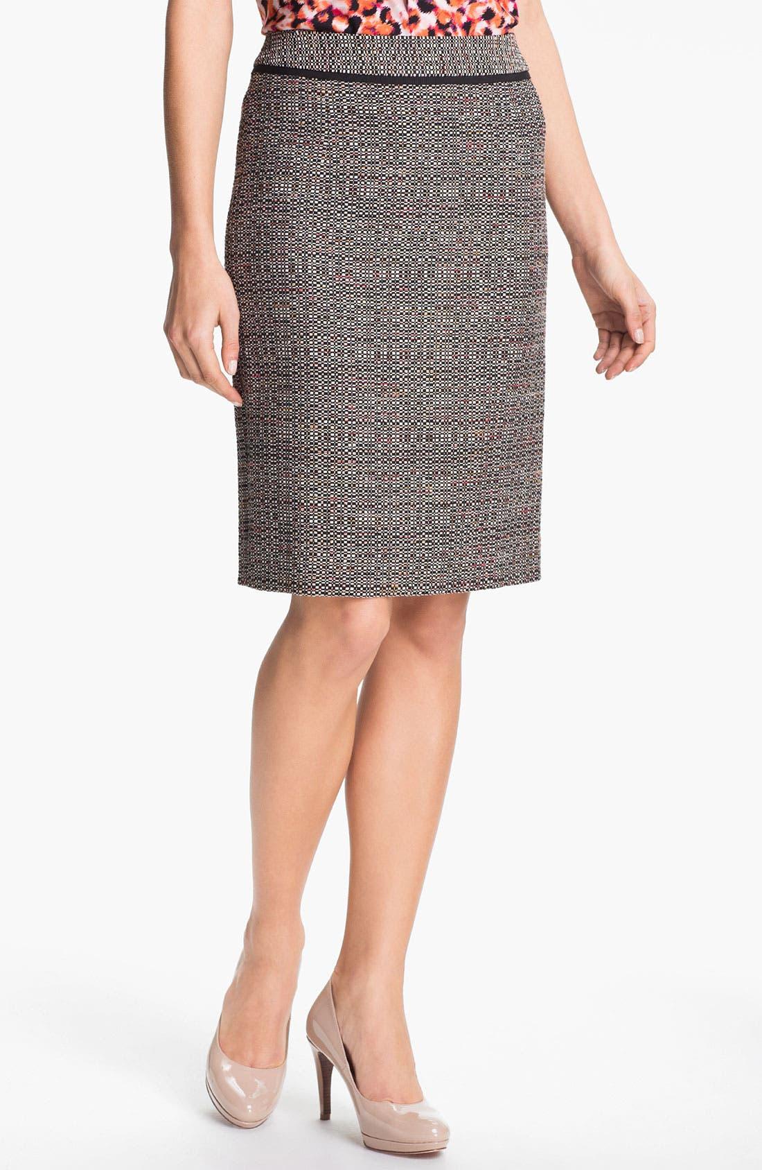 Alternate Image 1 Selected - Classiques Entier 'Luna' Tweed Skirt