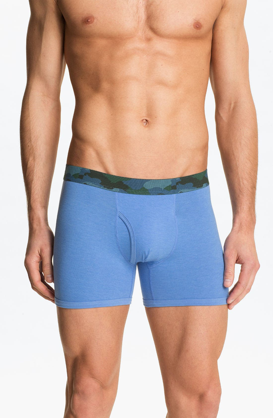 Alternate Image 4  - Basic Underwear Boxer Briefs (3-Pack)