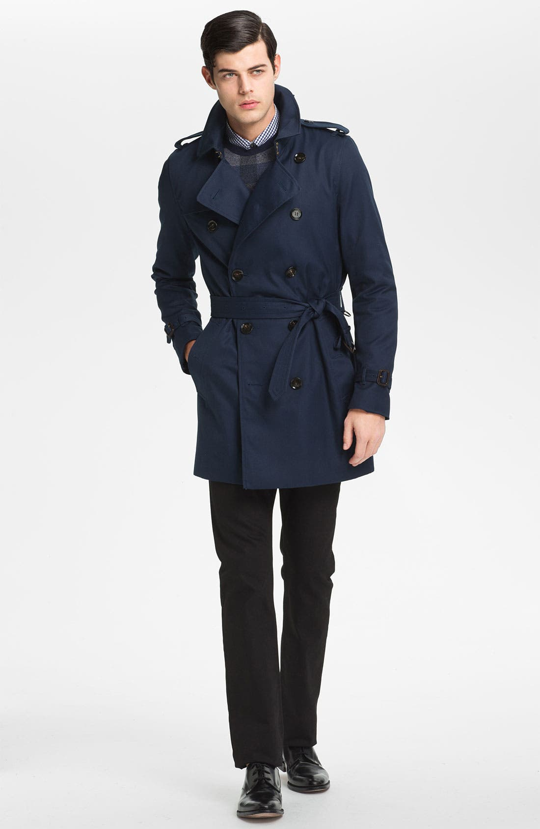 Alternate Image 4  - Burberry London Double Breasted Trench Coat