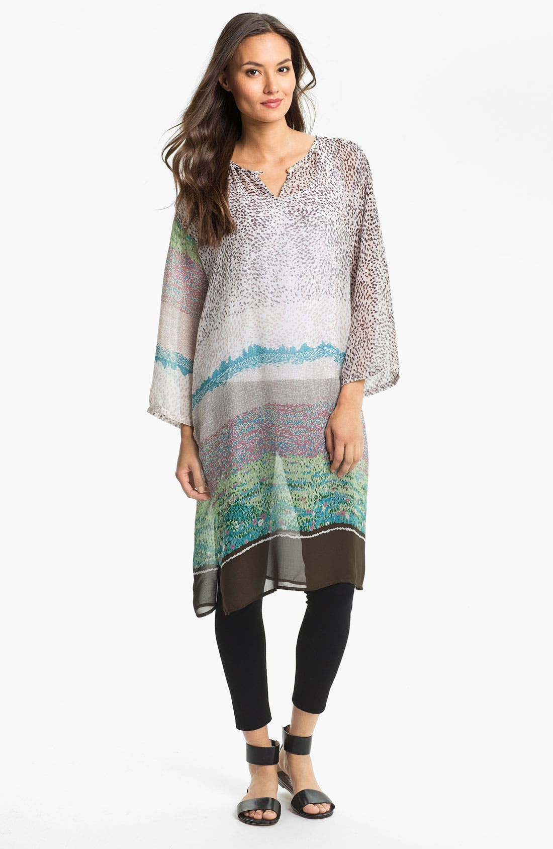 Alternate Image 1 Selected - Citron Silk Tunic Dress with Tank