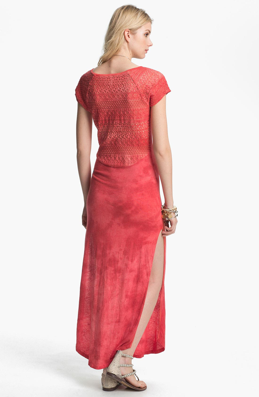 Alternate Image 2  - Free People Lace Detail Tie Dye Maxi Dress