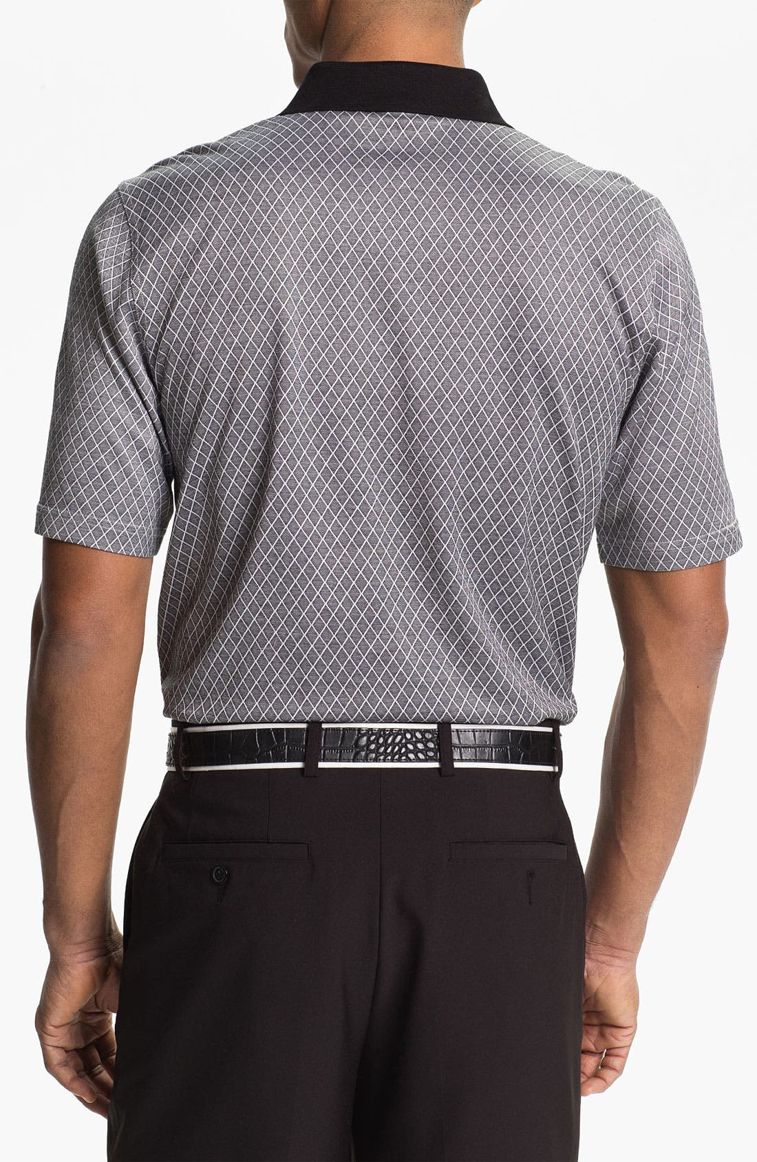 Alternate Image 2  - Bobby Jones Bird's Eye Jacquard Polo