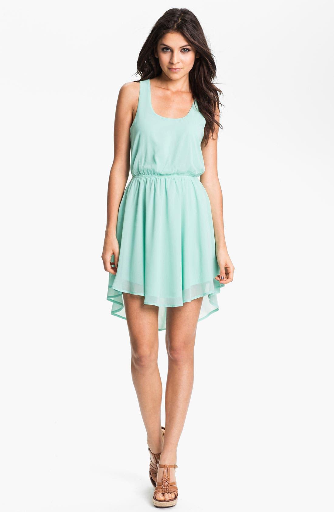 Alternate Image 1 Selected - Lush Colorblock Cutout Dress (Juniors)