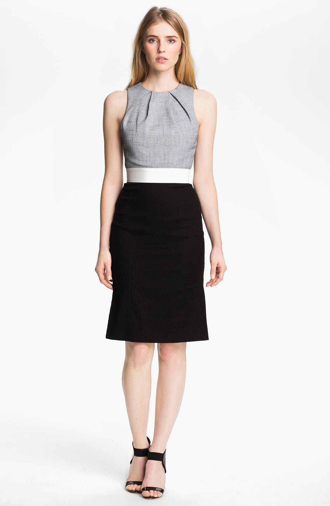 Main Image - L'AGENCE Pleated Bodice Dress