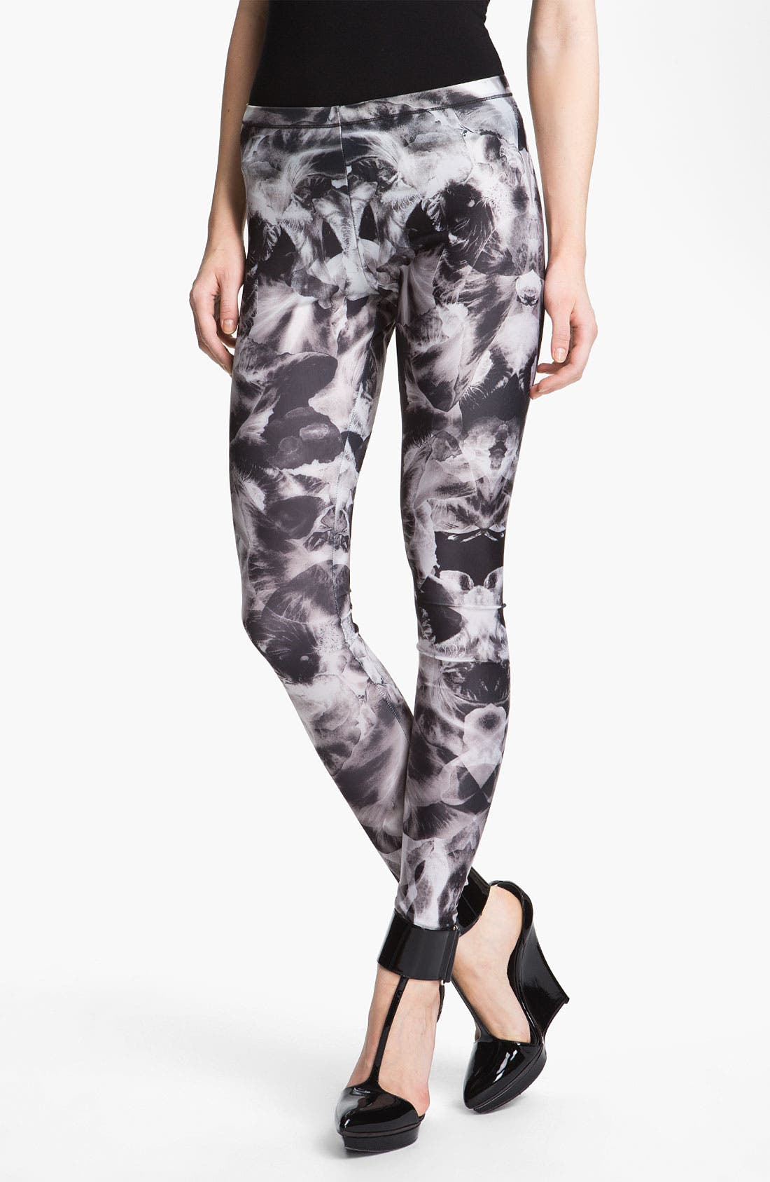 Main Image - McQ by Alexander McQueen Orchid Print Leggings
