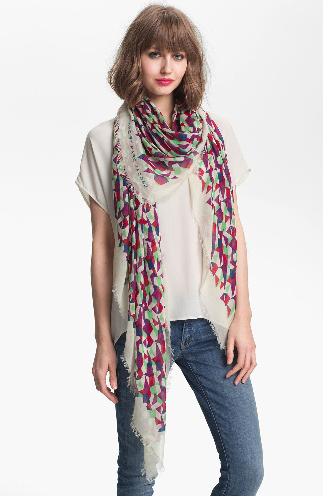 Main Image - MARC BY MARC JACOBS 'Taboo' Silk Blend Scarf
