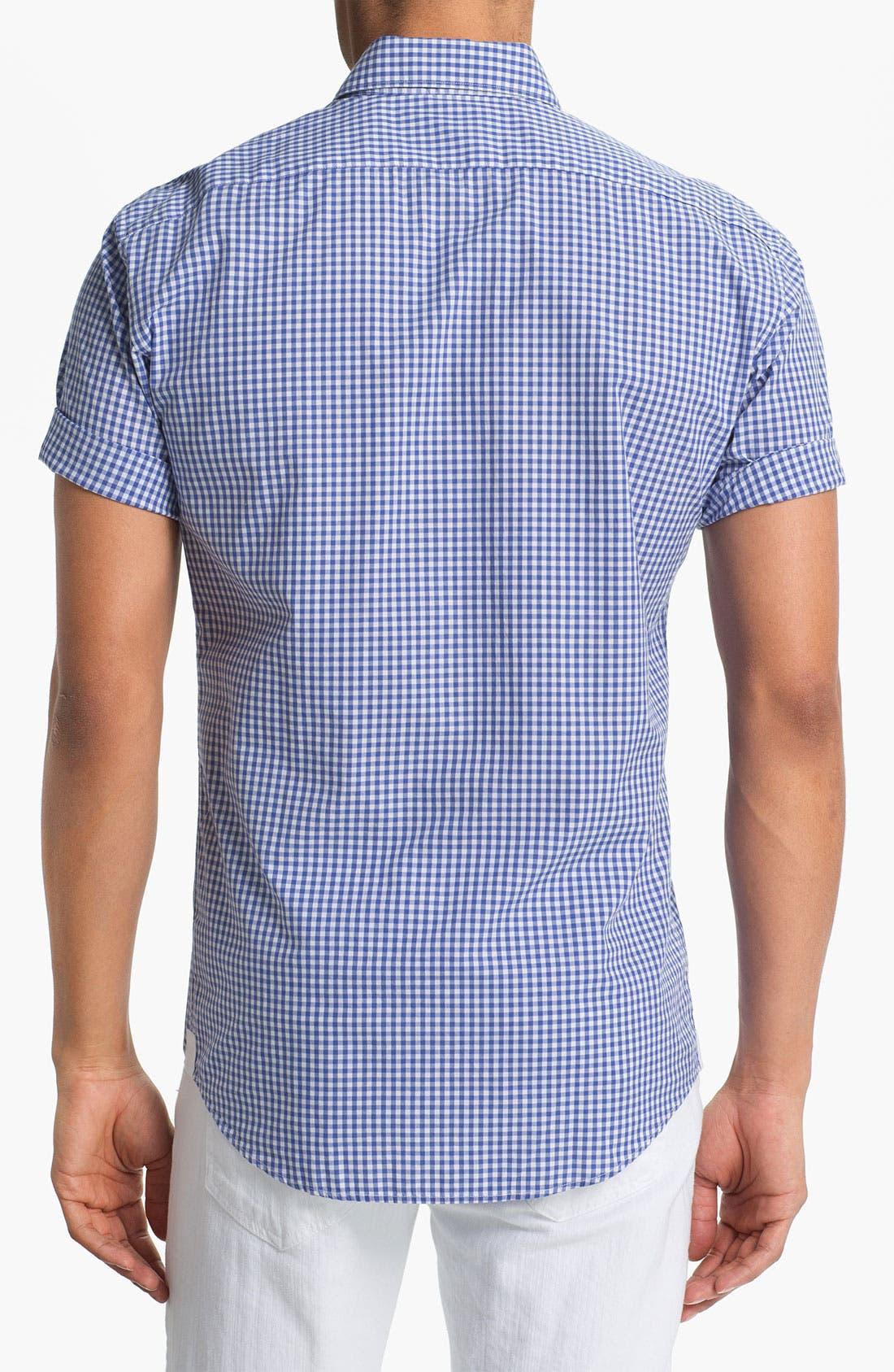 Alternate Image 2  - Lacoste Short Sleeve Button Down Shirt (Big)