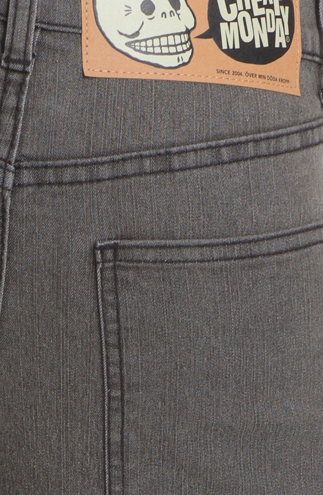 Alternate Image 4  - Cheap Monday Tight Skinny Leg Jeans (45-Minute Stonewash)
