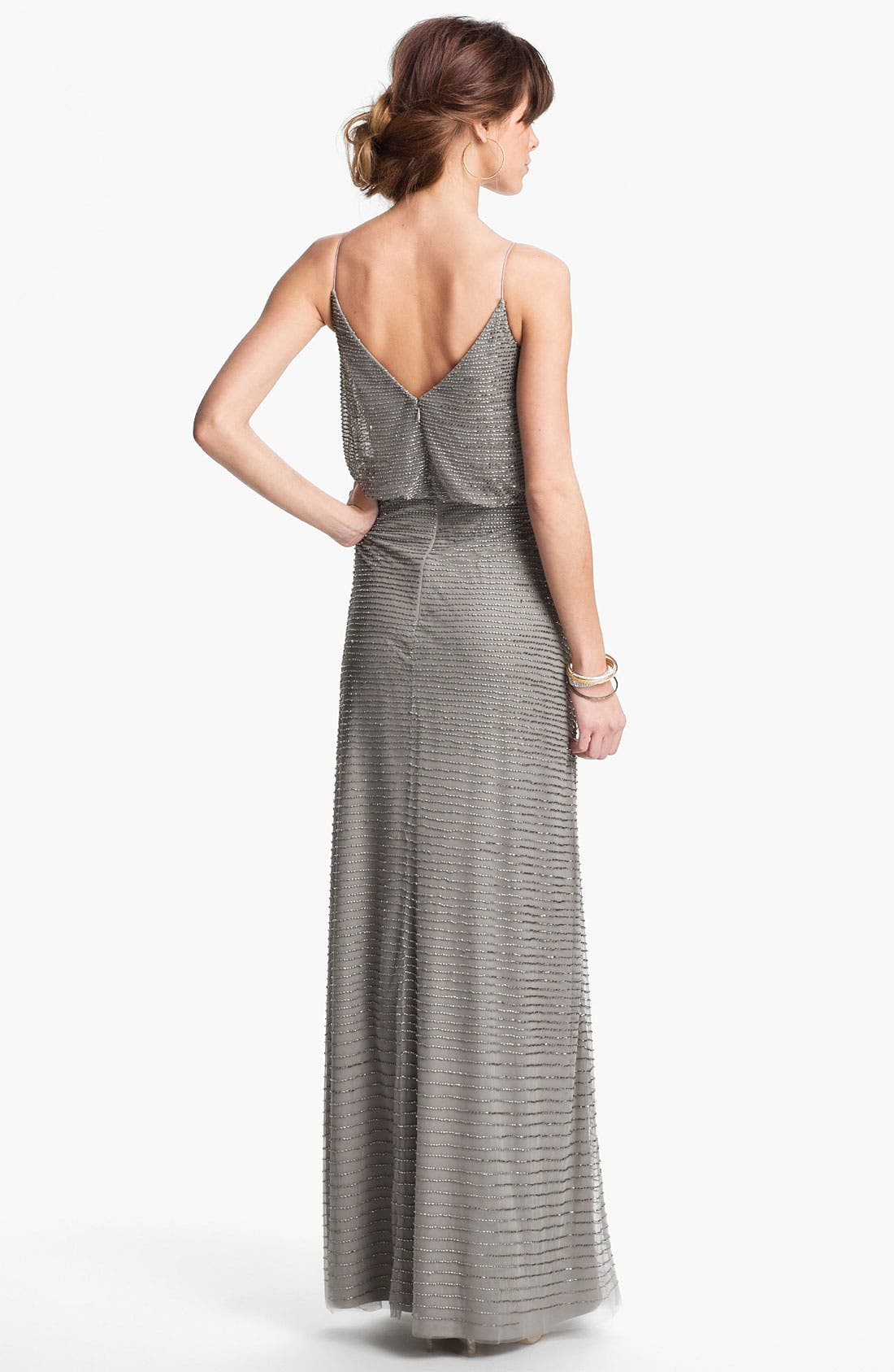 Alternate Image 2  - Adrianna Papell Embellished Blouson Mesh Gown
