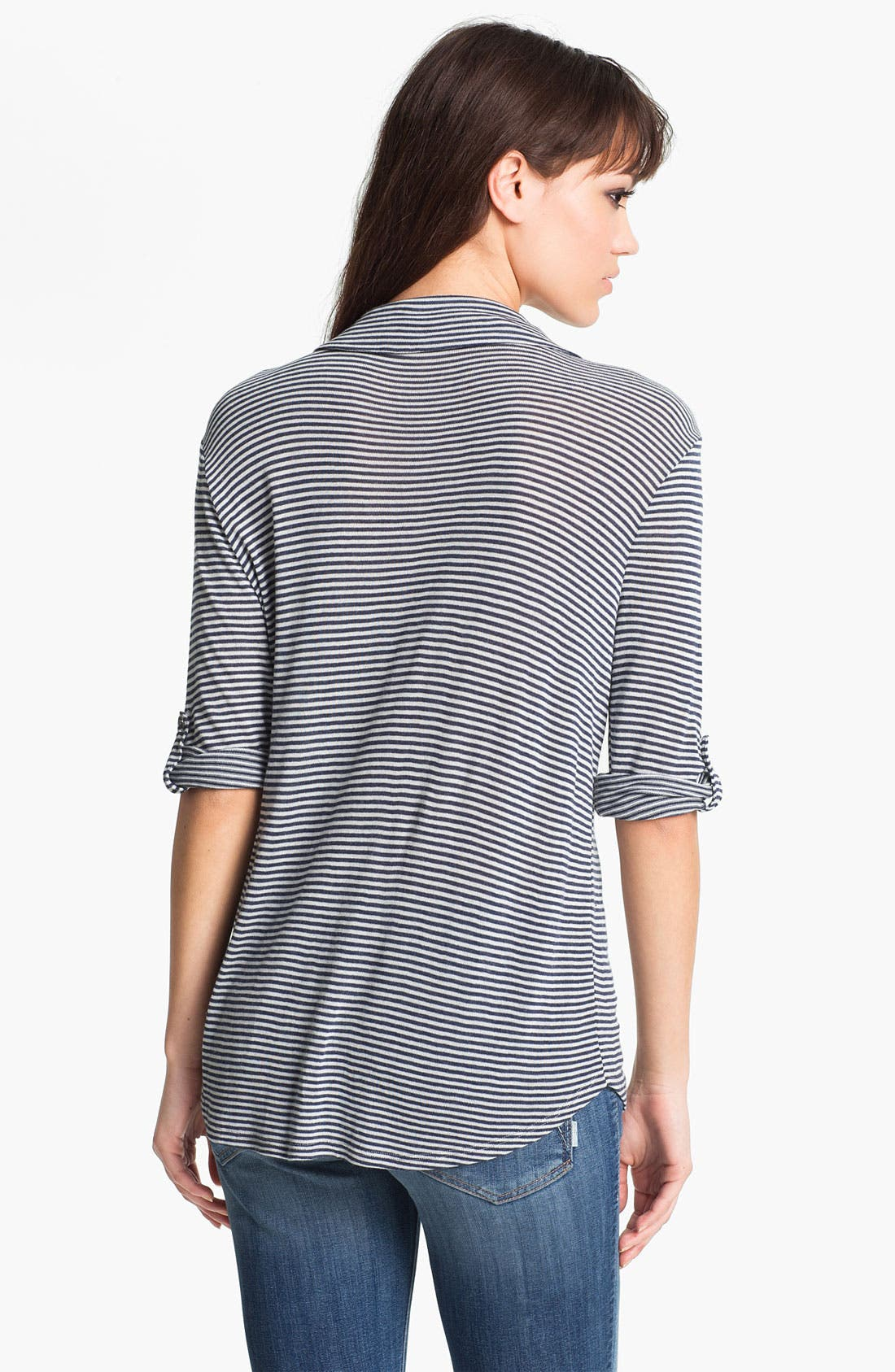 Alternate Image 2  - Soft Joie 'Shey' Mini Stripe Jersey Shirt
