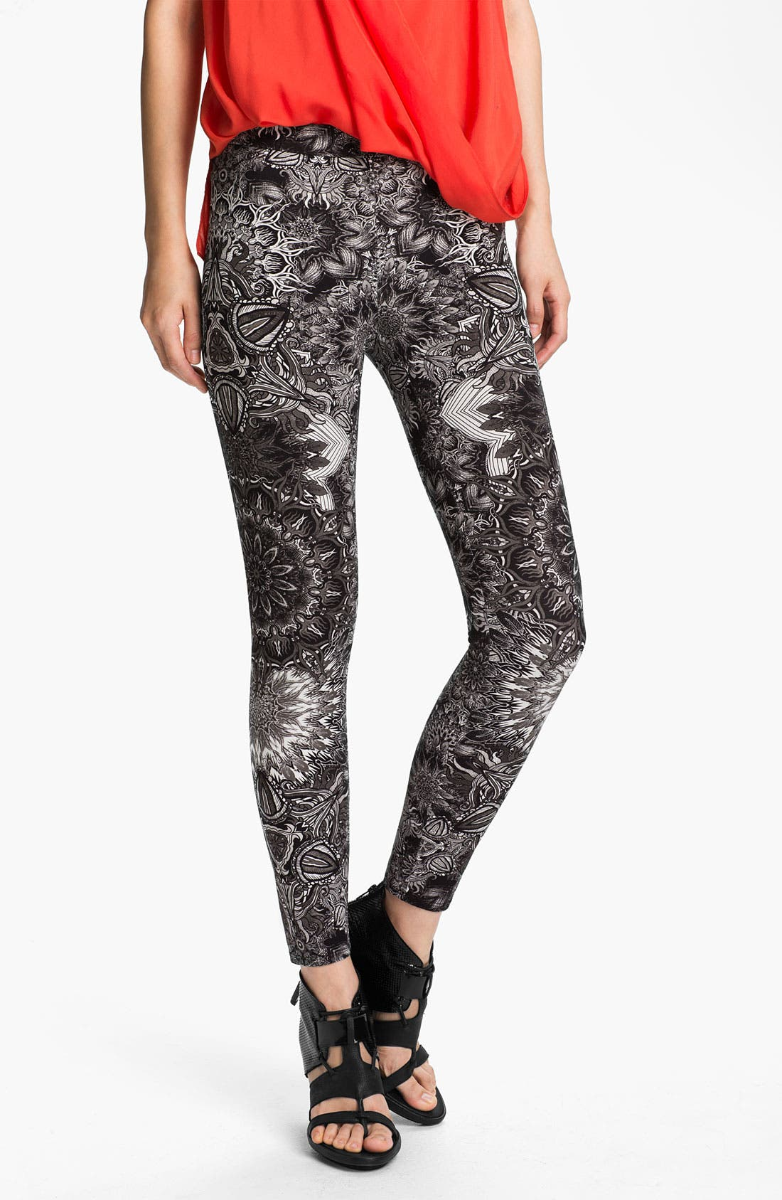 Alternate Image 1 Selected - Helmut Lang Medallion Print Leggings