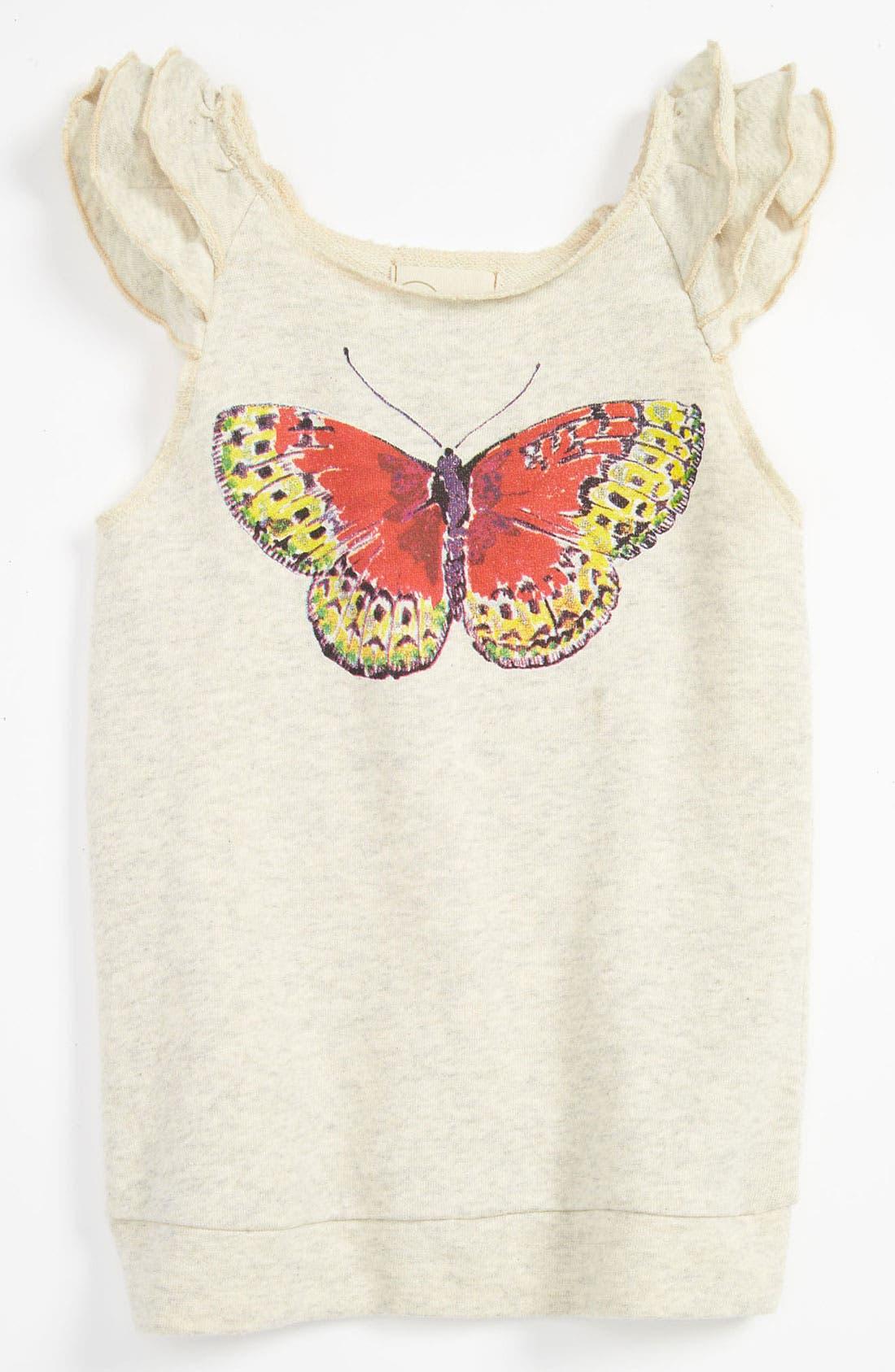 Main Image - Peek 'Butterfly' Top (Toddler, Little Girls & Big Girls)