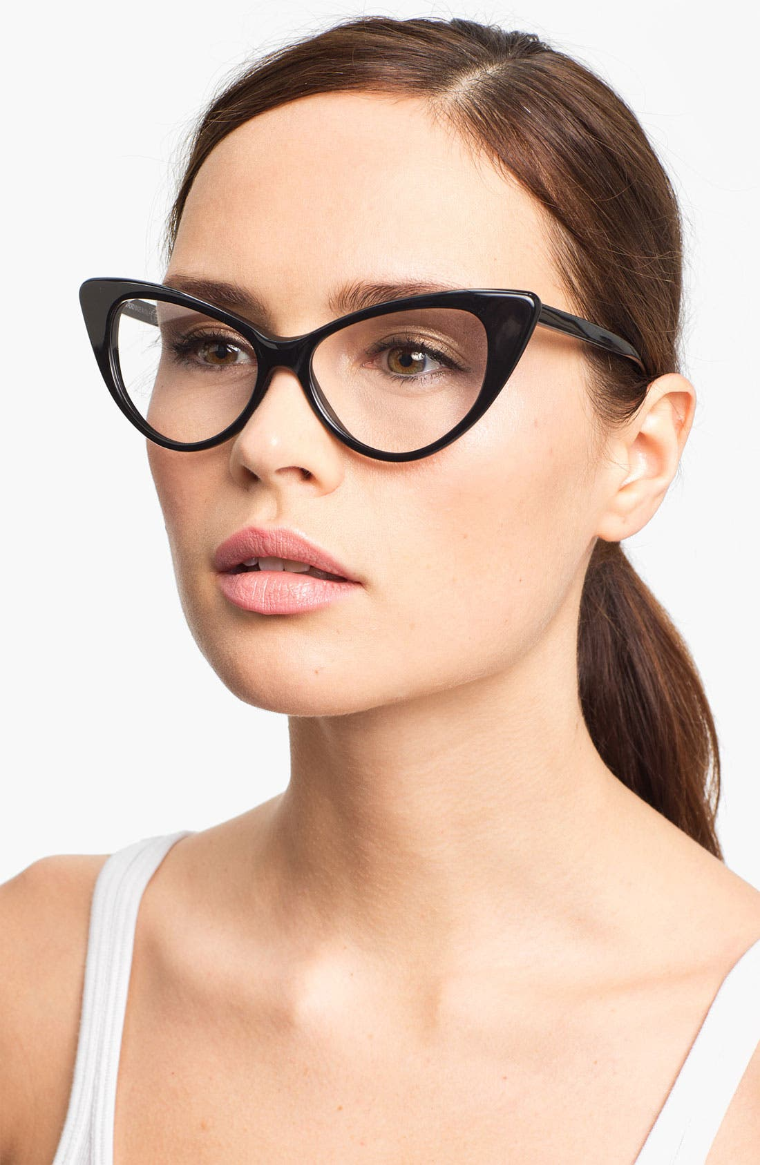 Main Image - Tom Ford Cat's Eye 55mm Optical Glasses (Online Only)