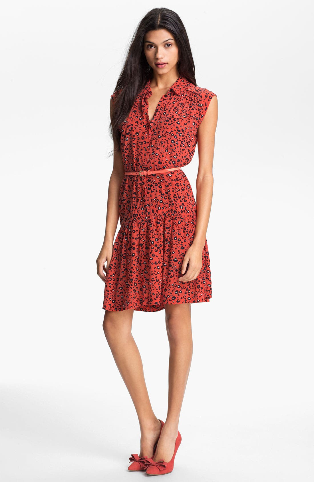 Main Image - French Connection Print Crepe Shirtdress