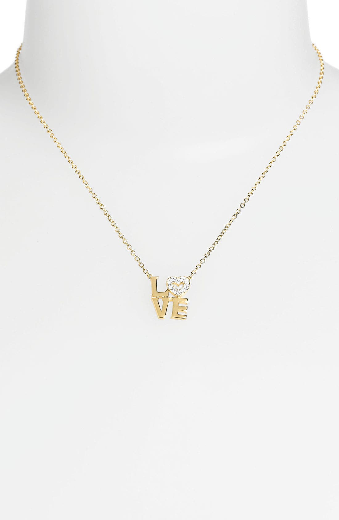 Alternate Image 2  - Ariella Collection 'Messages - Love'  Pendant Necklace