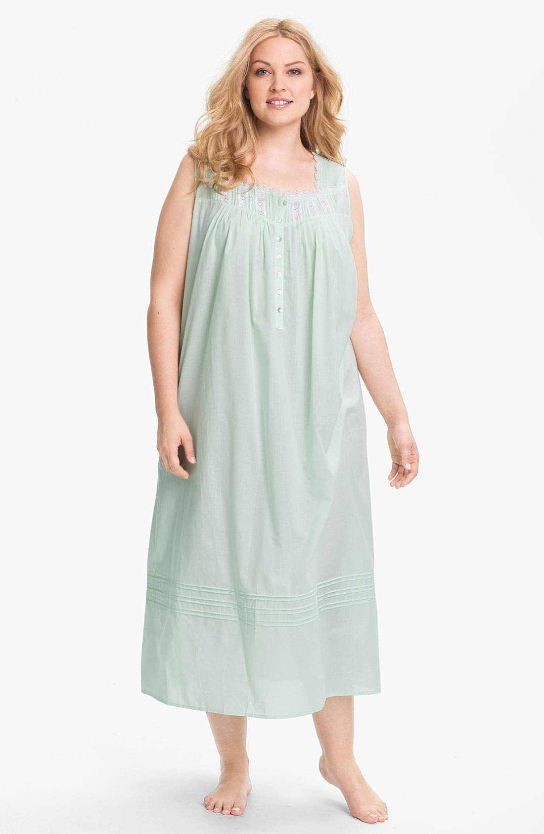 Main Image - Eileen West 'Morning Dew' Nightgown (Plus)