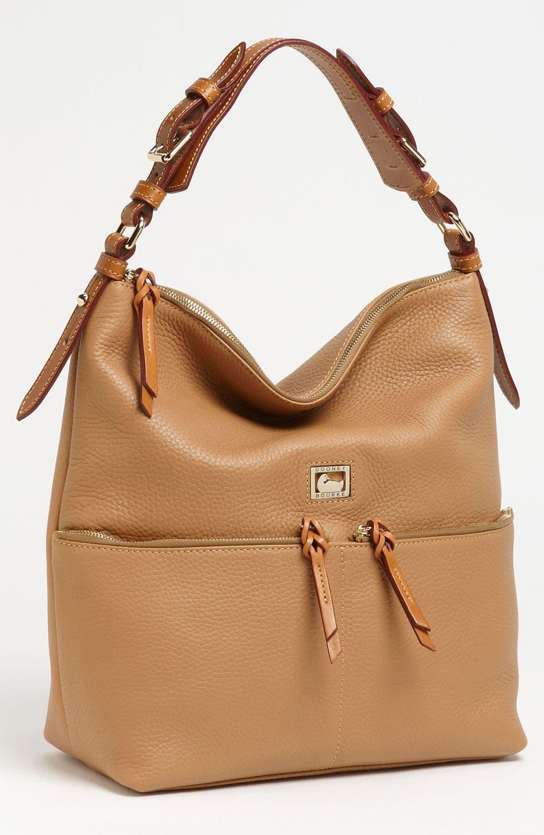 Alternate Image 1 Selected - Dooney & Bourke 'Dillen - Medium' Zip Pocket Leather Hobo