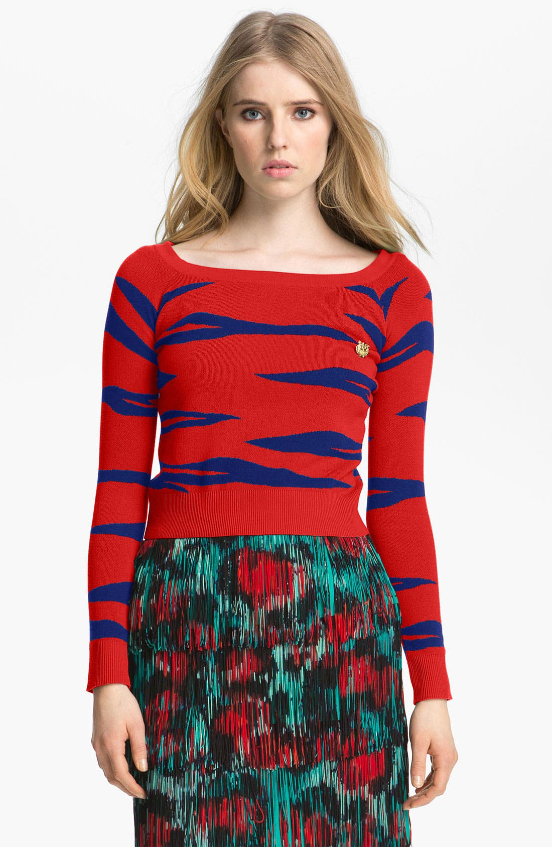 Alternate Image 1 Selected - KENZO Tiger Stripe Jacquard Sweater