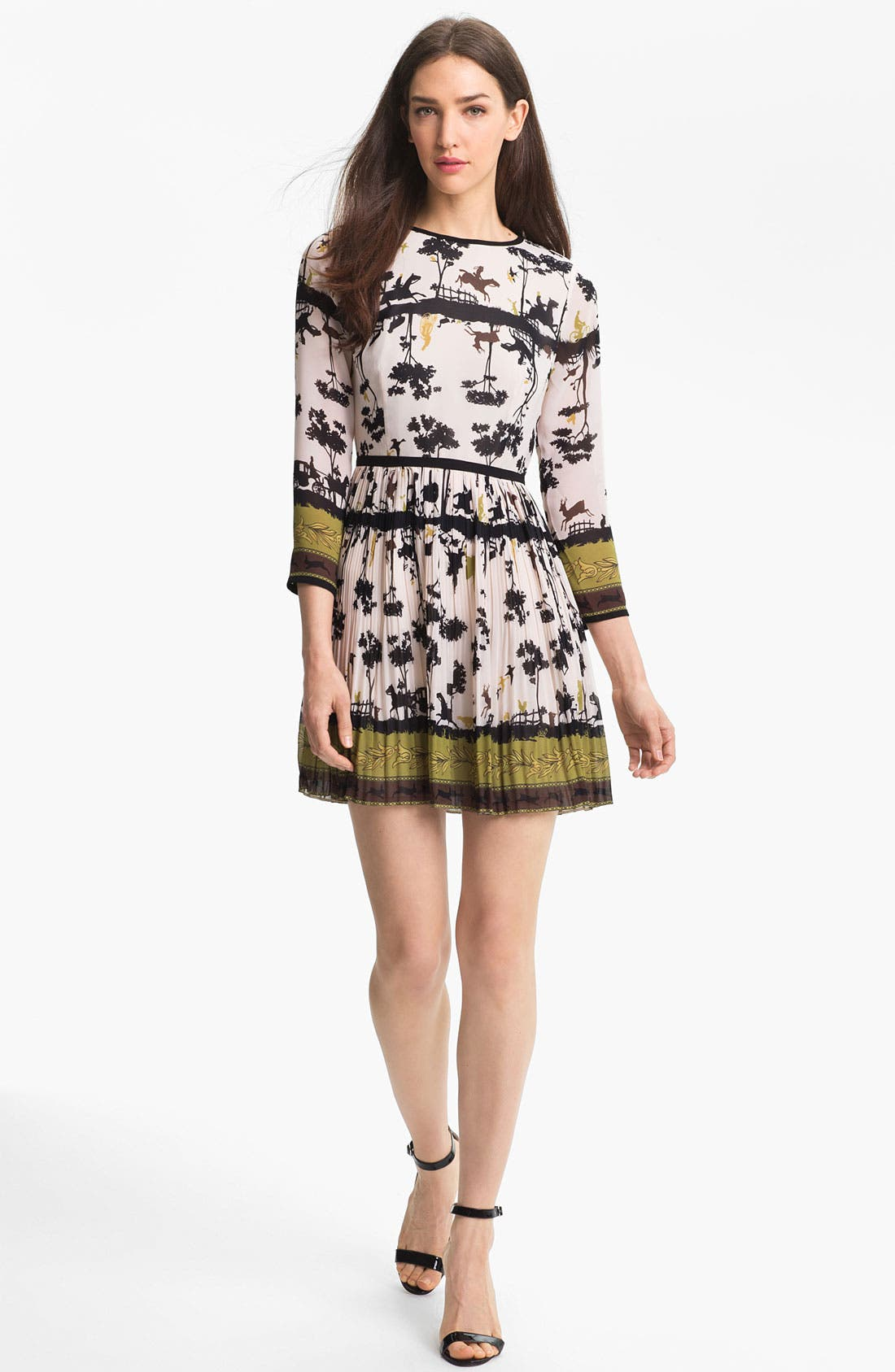 Alternate Image 1 Selected - Ted Baker London 'Cameo' Print Fit & Flare Dress