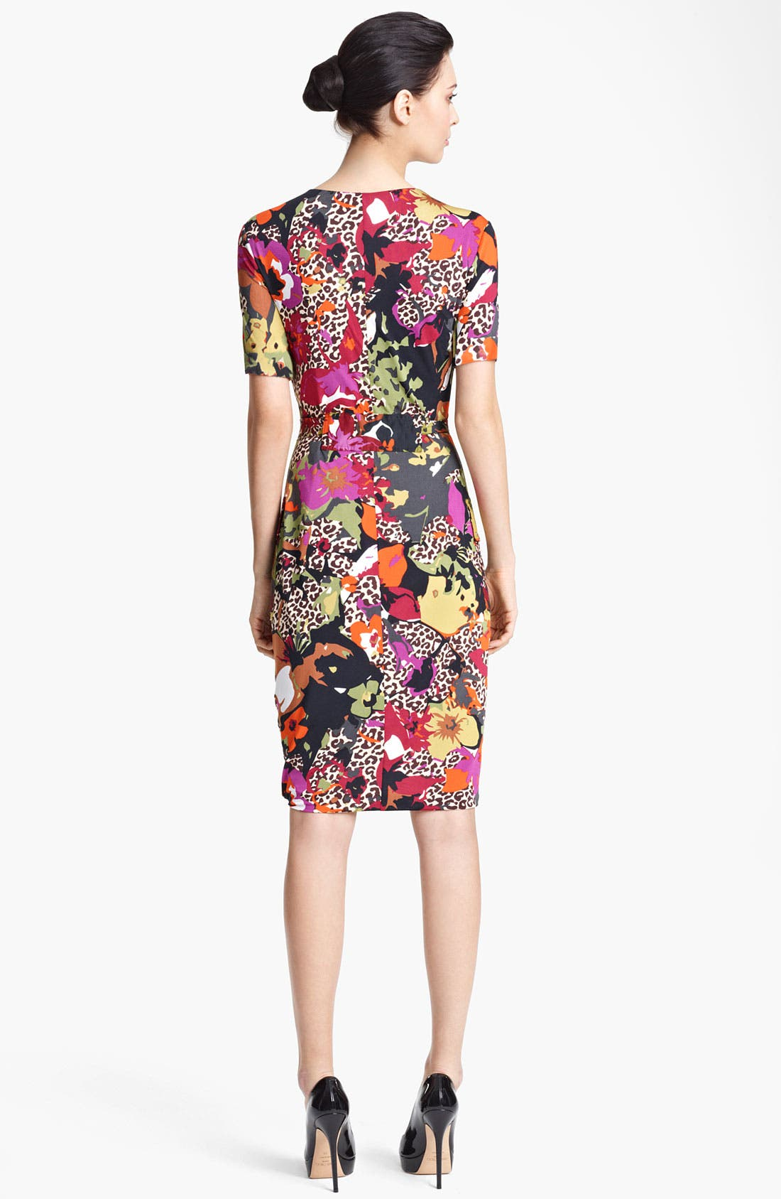 Alternate Image 2  - Max Mara Belted Floral Print Jersey Dress