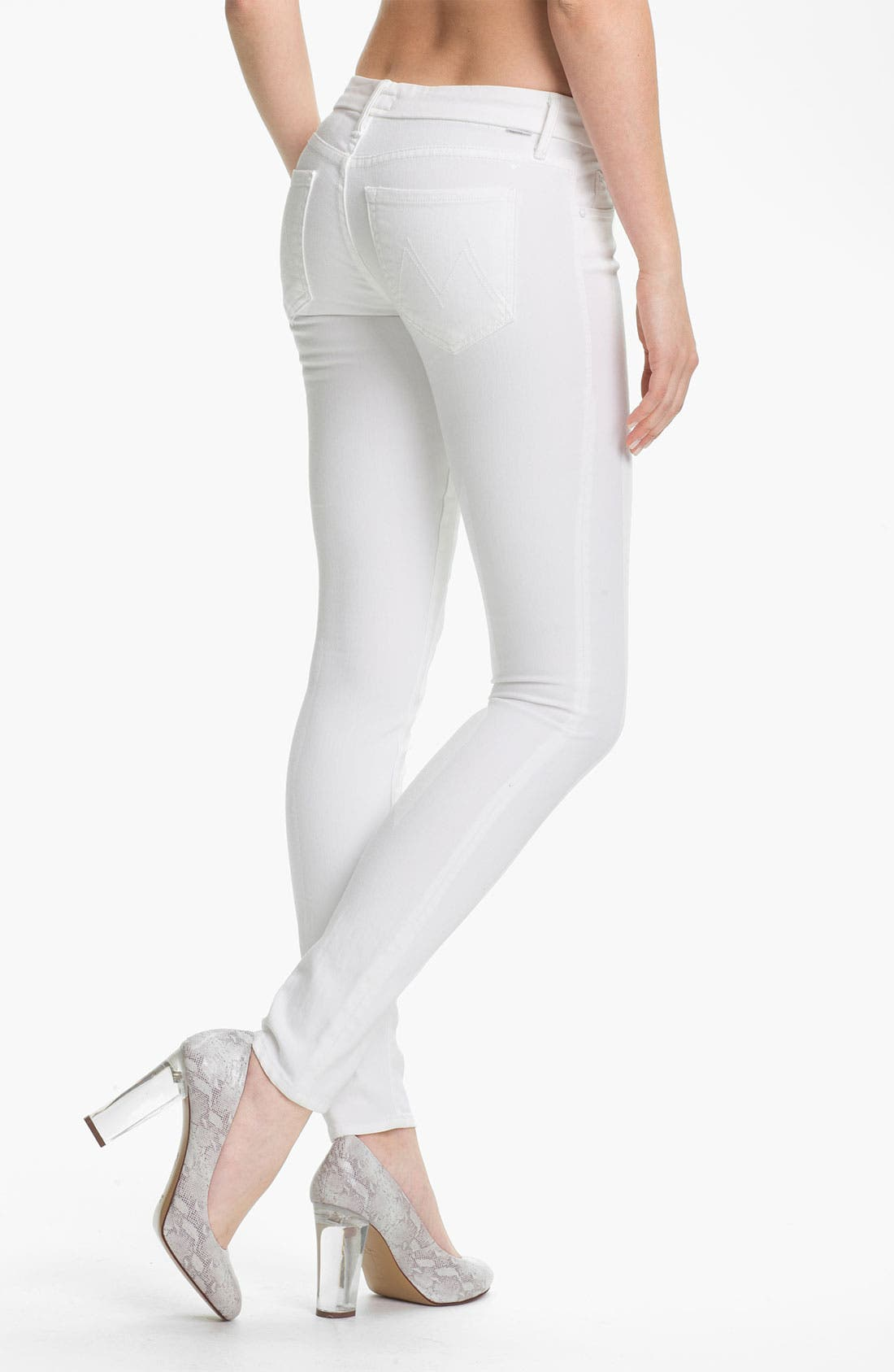 Alternate Image 2  - MOTHER 'The Looker' Skinny Stretch Jeans (Mirror Mirror)