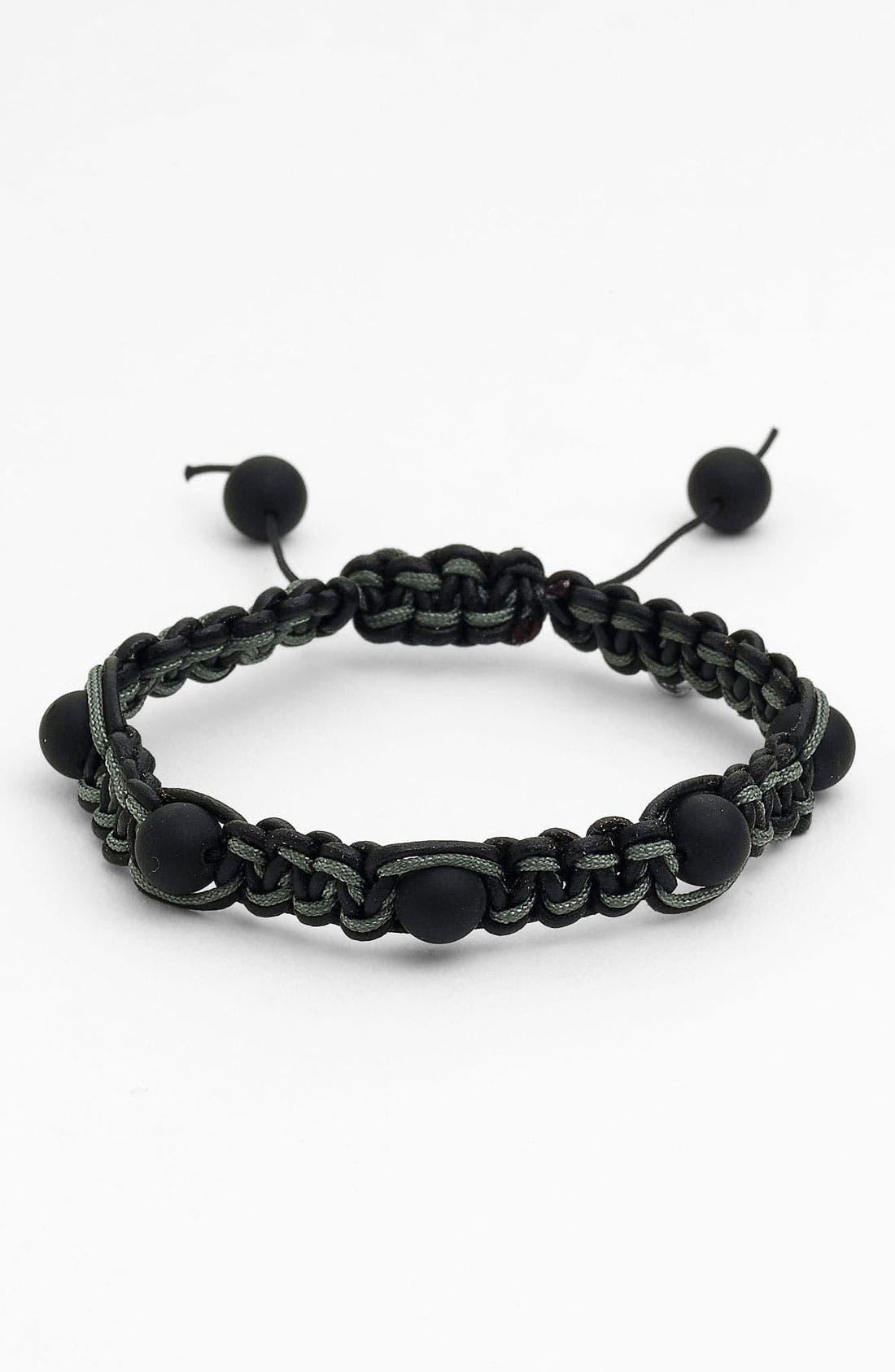 Alternate Image 1 Selected - Zack Spaced Onyx Beaded Bracelet