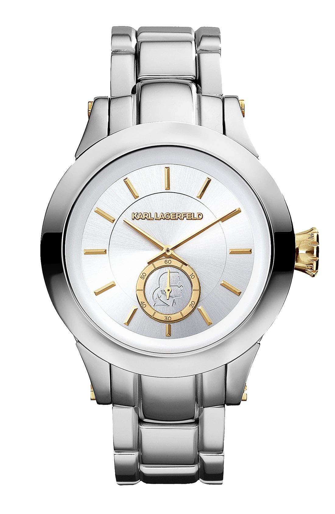 Alternate Image 1 Selected - KARL LAGERFELD Chain Detail Bracelet Watch, 40mm
