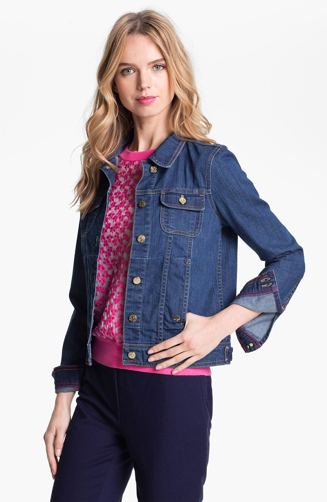 Alternate Image 1 Selected - kate spade new york 'broome street' denim jacket