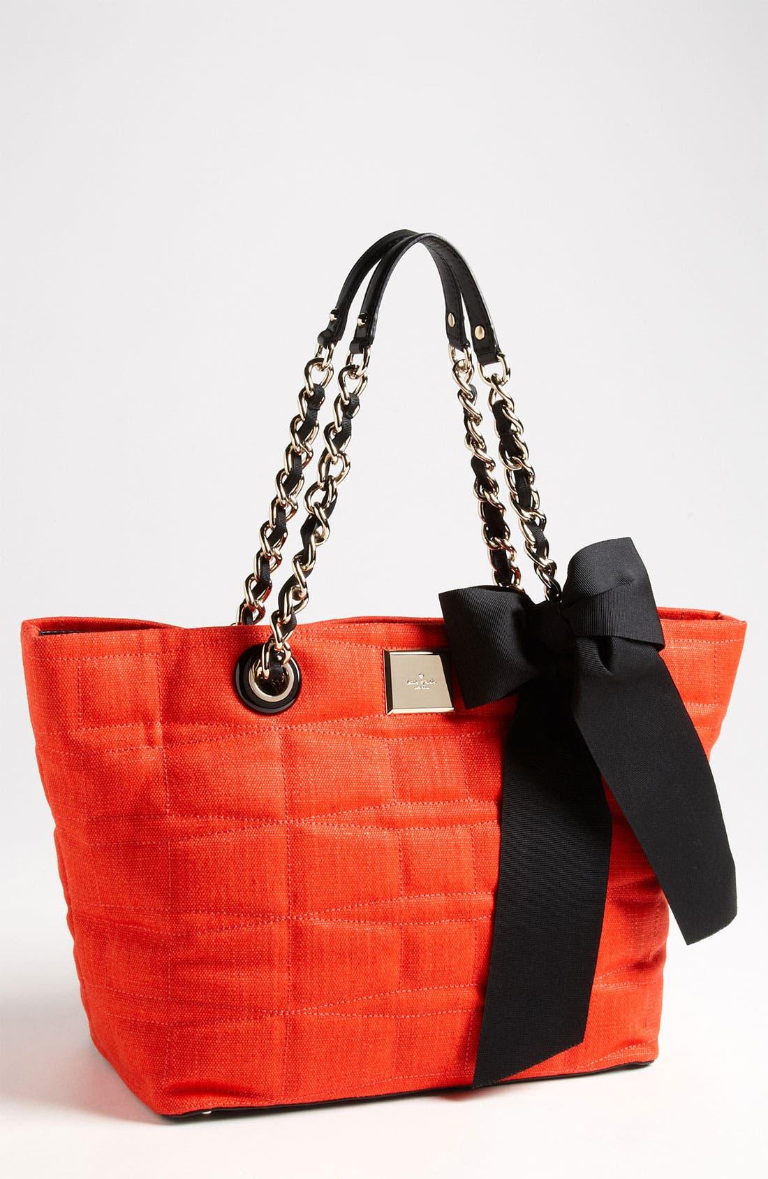 Main Image - kate spade new york 'signature spade - small coal' shoulder bag