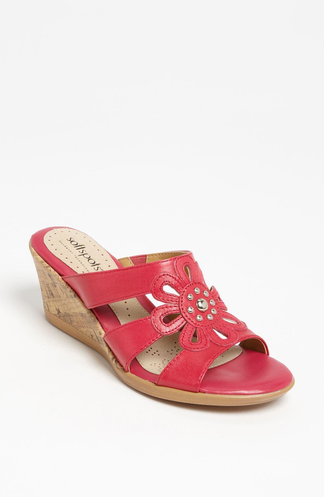 Alternate Image 1 Selected - Softspots 'Lilianna' Wedge Sandal
