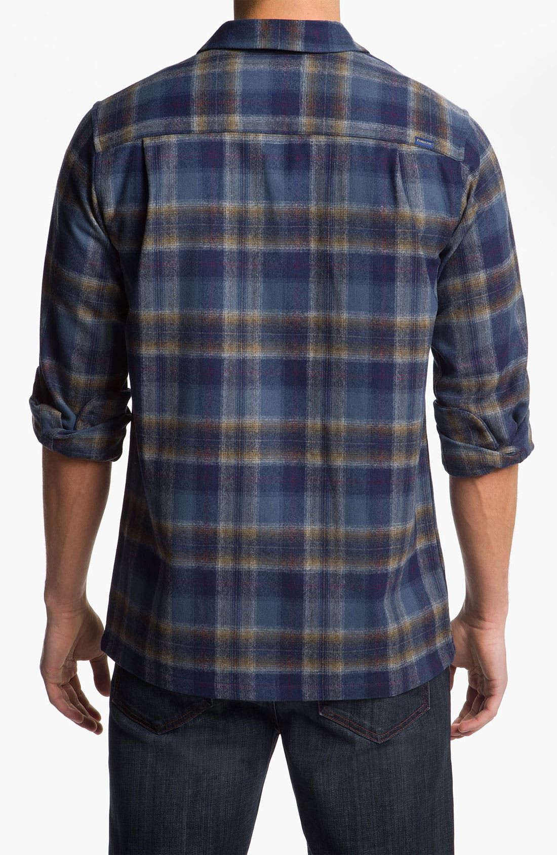 Alternate Image 2  - Pendleton 'Board' Fitted Plaid Wool Flannel Shirt