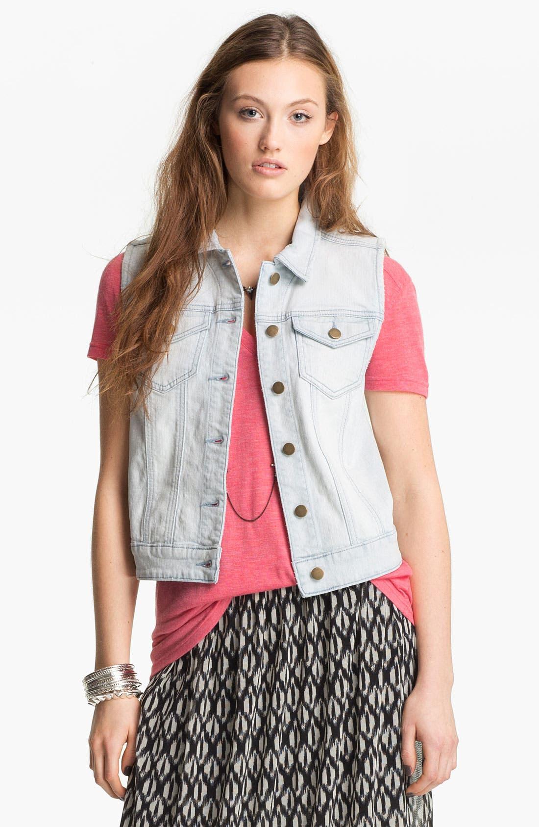 Alternate Image 1 Selected - Rubbish® Denim Vest (Juniors)