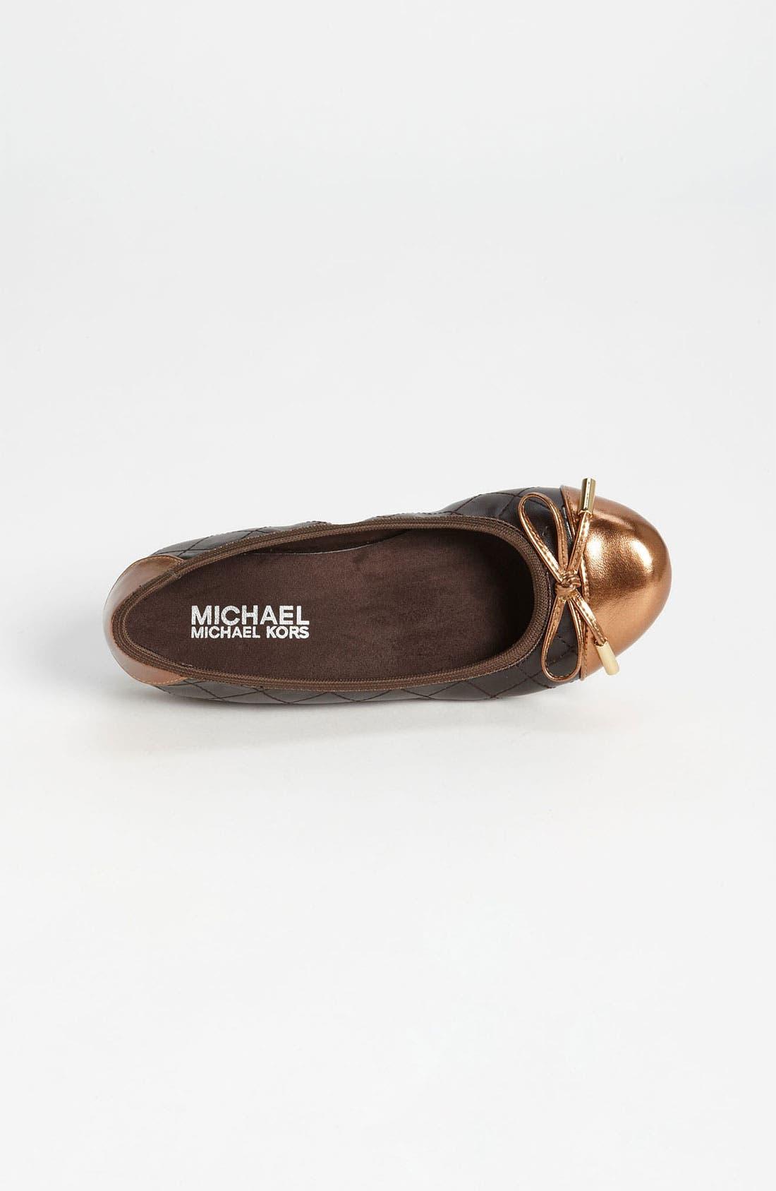 Alternate Image 3  - MICHAEL Michael Kors 'Erin' Flat (Little Kid & Big Kid)