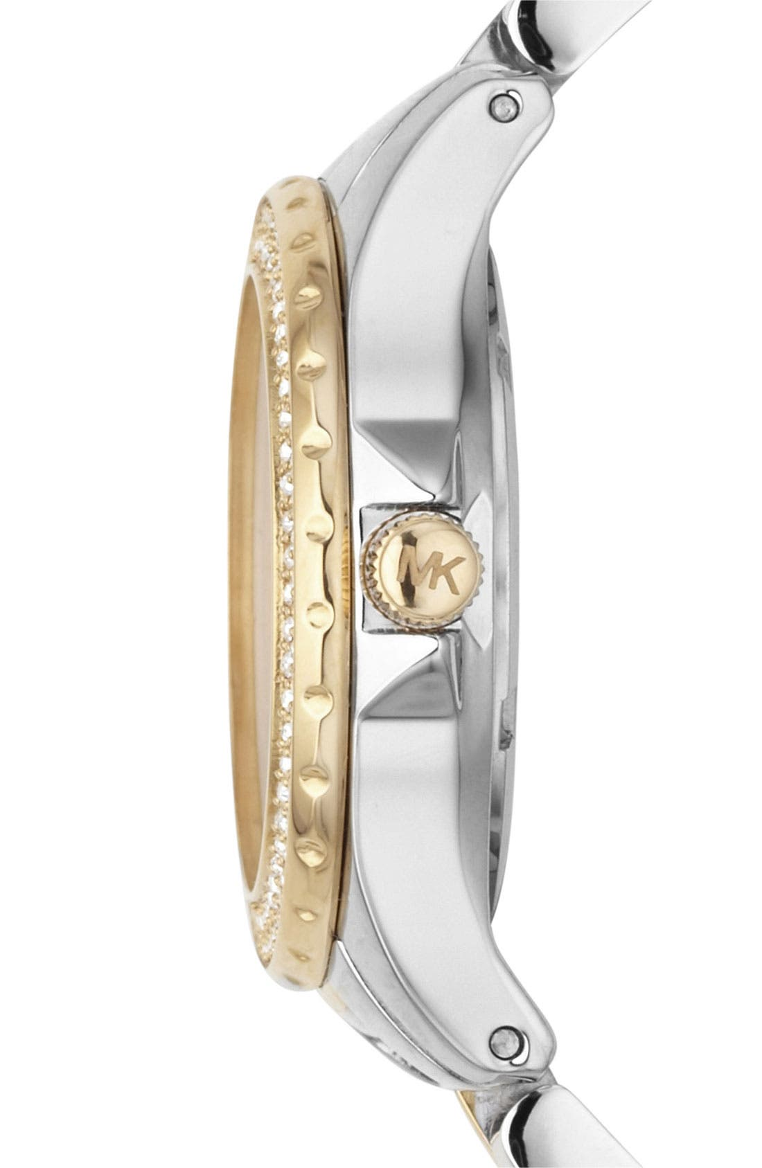 Alternate Image 3  - Michael Kors 'Mini Madison' Twin Row Crystal Watch, 33mm