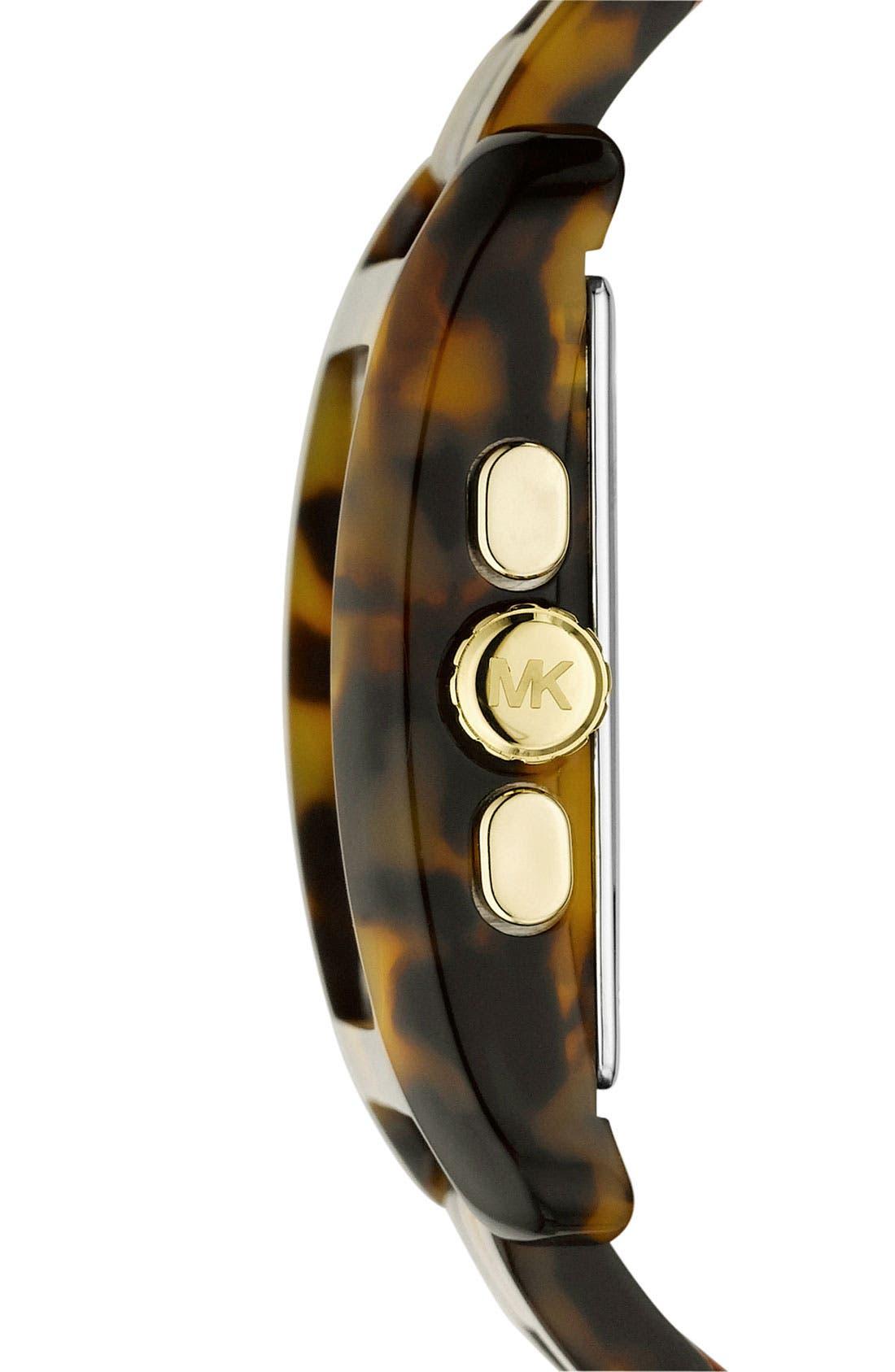 Alternate Image 2  - Michael Kors 'Davenport' Tortoiseshell Chronograph Watch