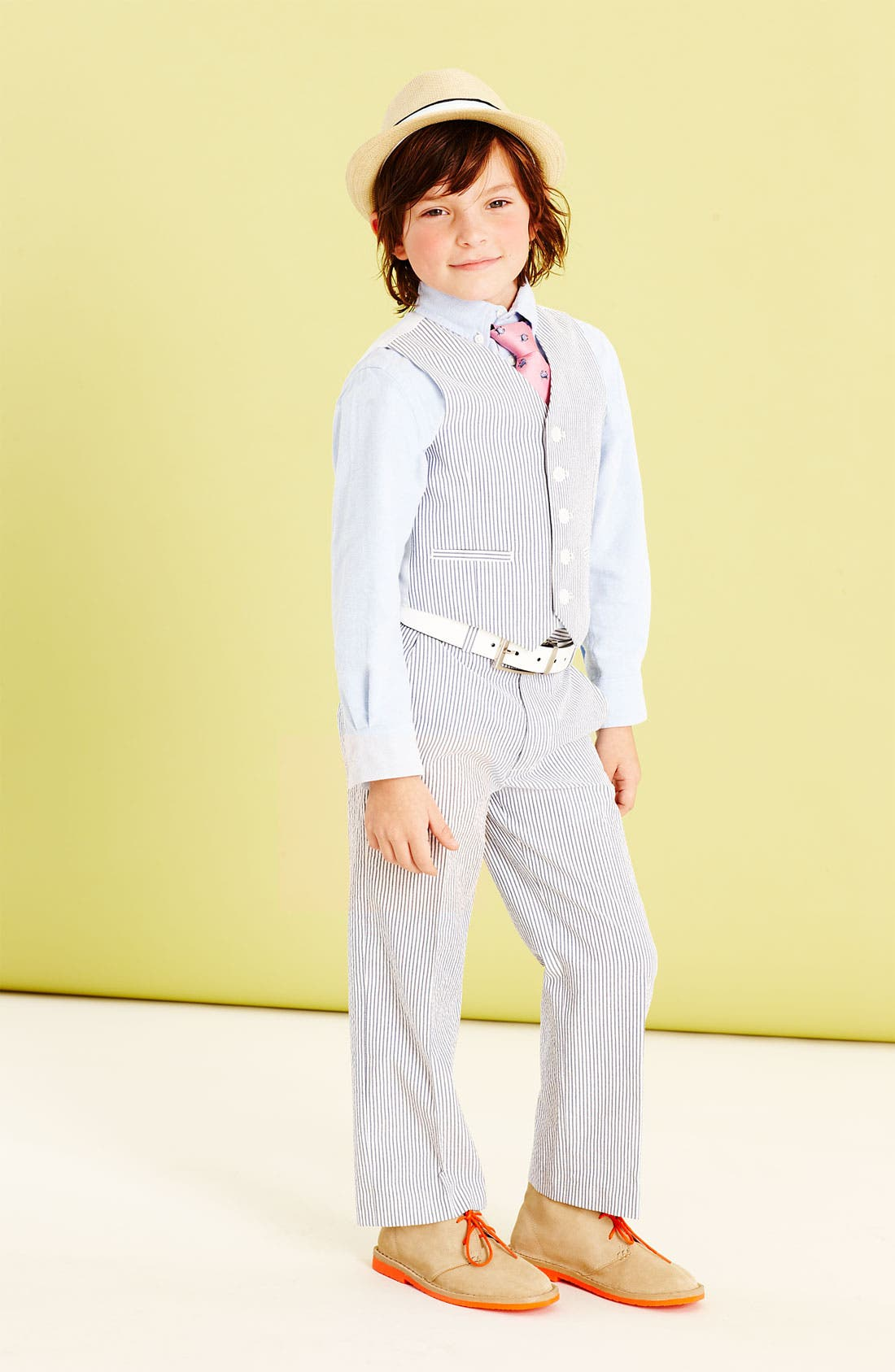 Main Image - C2 by Calibrate Vest, Nordstrom Oxford Shirt & Trousers (Little Boys)