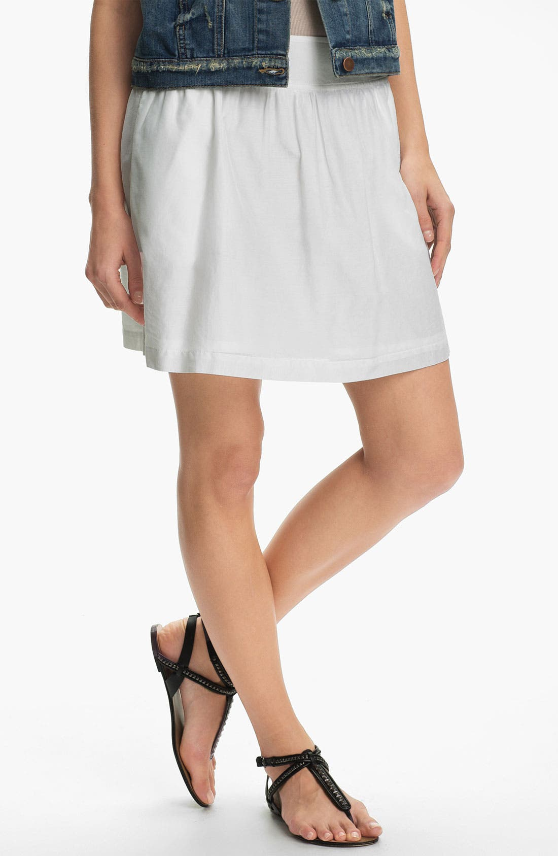 Main Image - Caslon Gathered Skirt
