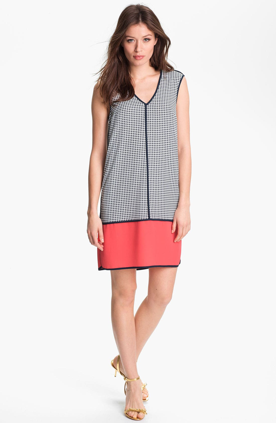 Alternate Image 1  - Adrianna Papell Colorblock Shift Dress