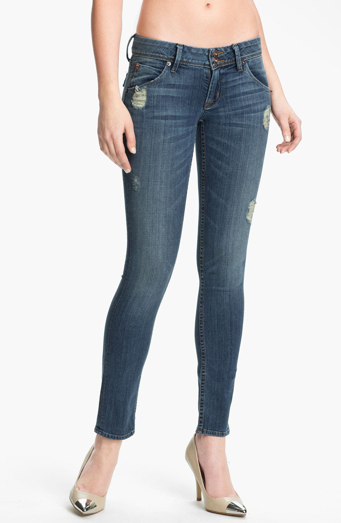 Alternate Image 1 Selected - Hudson Jeans Skinny Stretch Jeans (Vintage Napoli)
