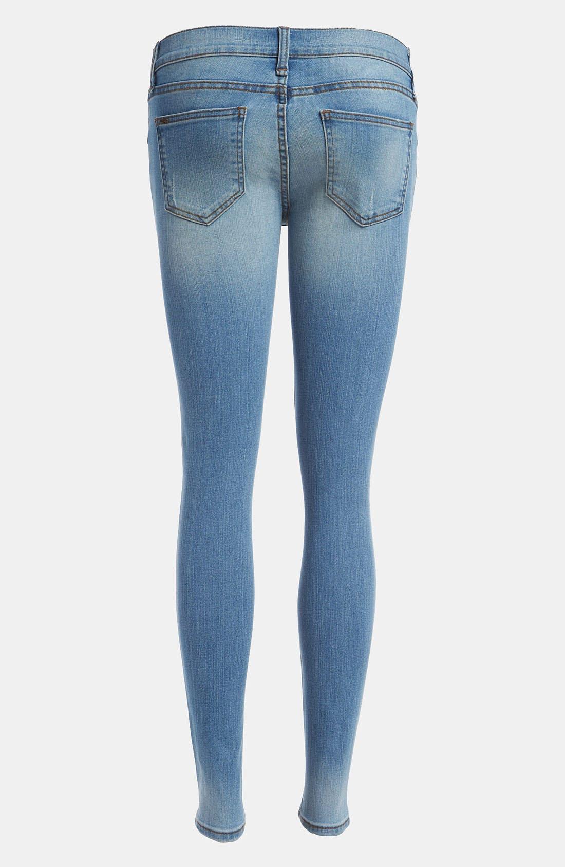 Alternate Image 2  - edyson 'Sloan' Skinny Jeans (Light Pacific)